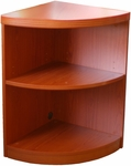 Aberdeen Two Shelf Quarter Round 29.5'' H Bookcase - Cherry [ABQ2LCR-FS-MAY]