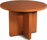 Aberdeen 42'' Dia x 29.5'' H Round Conference Table - Cherry [ACTR42LCR-FS-MAY]
