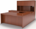 Aberdeen Bowfront Desk Suite - Cherry [AT10LCR-FS-MAY]