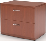 Aberdeen Freestanding 30'' W x 24'' D x 29.5'' H Lateral File - Cherry [AFLF30LCR-FS-MAY]