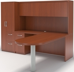 Aberdeen Peninsula and Credenza Storage Suite - Cherry [AT22LCR-FS-MAY]