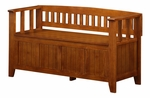 Acadian Collection Light Avalon Brown Entryway Storage Bench [INT-AXCACA-EB-ALB-FS-SIH]