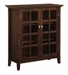 Acadian Collection Tobacco Brown Medium Storage Media Cabinet & Buffet [AXREG007-FS-SIH]