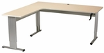 Accella L-Shape Desk with Hand Crank Adjustment [AC-7230-L-ADAS]