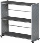 Eastwinds 31'' H x 11'' D x 31.25'' W Accent Shelving with Three Fixed Shelves - Anthracite [993ANT-FS-MAY]