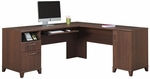 Achieve L-shaped Computer Desk With File Drawer in Sweet Cherry Finish [PR67610K-FS-BHF]