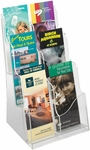 Acrylic Three Plastic Pocket Magazine Display - Clear [5635CL-FS-SAF]