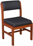 Belcino 34''H Armless Leg Base Side Chair with Cherry Wood Frame - Black [B61775CHBK-FS-REG]