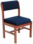 Belcino 34''H Armless Leg Base Side Chair with Cherry Wood Frame - Blue [B61775CHBE-FS-REG]