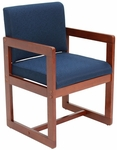 Belcino 34''H Sled Base Side Chair with Cherry Wood Frame - Blue [B61715CHBE-FS-REG]