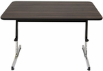 Adapta Work Station Height Adjustable 47.5''W x 30''D Table with Walnut Top - Black [410380-FS-SDI]