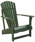 Outdoor Solid Wood Adirondack 38''H Chair - Hunter Green [C-51901-FS-WHT]