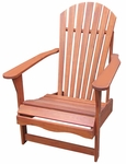 Outdoor Oil Treated Asian Hardwood Adirondack Chair - Oak Finish [C-53931-FS-WHT]