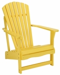 Outdoor Solid Wood Adirondack 38''H Chair - Yellow [C-51903-FS-WHT]