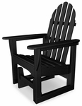 POLYWOOD® Adirondack Collection Glider Chair - Black [ADSGL-1BL-FS-PD]