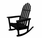 POLYWOOD® Adirondack Collection Rocker - Black [ADRC-1BL-FS-PD]