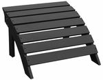 Outdoor Solid Wood 22''W X 14''H Adirondack Footrest - Black [S-51902-FS-WHT]