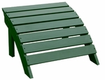 Outdoor Solid Wood 22''W X 14''H Adirondack Footrest - Hunter Green [S-51901-FS-WHT]
