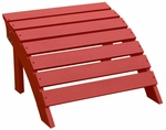 Outdoor Solid Wood 22''W X 14''H Adirondack Footrest - Red [S-92248-FS-WHT]