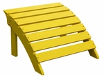 Outdoor Solid Wood 22''W X 14''H Adirondack Footrest - Yellow [S-51903-FS-WHT]