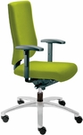 Adjust Medium Back Swivel Chair with Upholstered Outer Shell [AJ14500UBR-FS-DV]