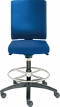 Adjust Medium Height Swivel Stool with Poly Outer Shell [AJ14500M-FS-DV]