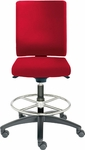 Adjust Medium Height Swivel Stool with Upholstered Outer Shell [AJ14500M-UBR-FS-DV]
