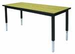 Adjustable Height Rectangle Table w/Welded Frame [2448-WFA-A2-IRO]