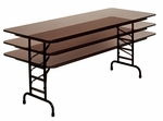 Adjustable Height Solid Plywood Core Folding Table - 36''D X 72''W [PCA3672P-CRL]