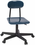 Plastic Height Adjustable Rolling Task Chair with Lift Handle - 15.5-21.5''H [750-NSL]