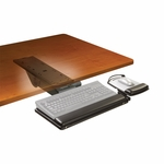 Adjustable Keyboard Tray w/Easy Adjust and 17.75'' Track [AKT151LE-FS-TM]