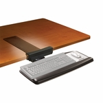 Adjustable Keyboard Tray w/Standard Mouse Platform and Knob Adjust 17'' Track [AKT65LE-FS-TM]