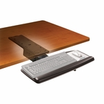 Adjustable Keyboard Tray w/Standard Mouse Platform and Lever Adjust 17.75'' Track [AKT71LE-FS-TM]