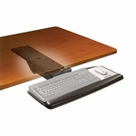 Adjustable Keyboard Tray w/Standard Mouse Platform & Easy Adjust 17.75'' Track [AKT91LE-FS-TM]