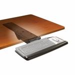 Adjustable Keyboard Tray w/Standard Mouse Platform & Easy Adjust 23'' Track [AKT90LE-FS-TM]
