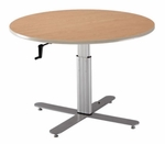 Adjustable Large Round Table [HCP-470-ADAS]