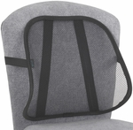 Adjustable Light Weight Mesh Backrest with Securing Strap - Set of Five - Black [7153BL-FS-SAF]