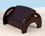 Wooden Adjustable Stool for Nursing with Anti-slip Pads on the Base - Cherry [15131-FS-KK]