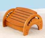 Wooden Adjustable Stool for Nursing with Anti-slip Pads on the Base - Honey [15141-FS-KK]