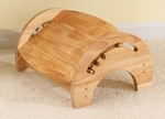 Wooden Adjustable Stool for Nursing with Anti-slip Pads on the Base - Natural [15121-FS-KK]