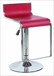 Adjustable Swivel Bar Stool w/ Squared Back in Red - Set of 2 [N2-CS-511-RED-FS-NSRT]