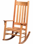 Traditional Adult Rocking Chair with Natural Oak Finish [ECROCK18-VCO]