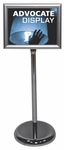 Advocate Rotating Aluminum Sign Holder with Chrome Finish [ADVOCATE-FS-OR]