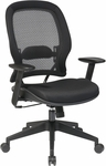 Space Air Grid Back and Mesh Seat Managers Chair with Adjustable Arms - Black [5540-FS-OS]