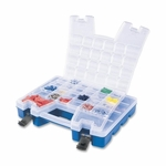Akro-Mils Portable Organizer -13 -3/8'' x 18 -1/4'' x 3 -5/8'' -BE Base/CL Lid [AKM06118-FS-SP]