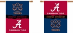 Alabama - Auburn 2-Sided 28'' X 40'' Banner with Pole Sleeve House Divided [96245-FS-BSI]