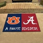 Alabama - Auburn House Divided Mat 34'' x 45'' [6005-FS-FAN]