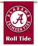 Alabama Crimson Roll Tide 2-Sided 28'' X 40'' Banner with Pole Sleeve [96402-FS-BSI]