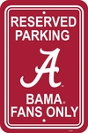 Alabama Crimson Tide 12'' X 18'' Plastic Parking Sign [50201-FS-BSI]