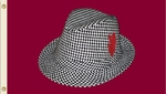Alabama Crimson Tide 3' X 5' Flag with Grommets - Hound Tooth Fedora [95902-FS-BSI]